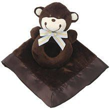 Carter's Snuggle Me Blankie and Rattle Chocolate Monkey  -  Click image twice for more info - See a larger selection  of  Baby rattles    at   http://zbabybaby.com/category/baby-categories/baby-and-toddler-toys/baby-rattles/  - gift ideas, baby , baby shower gift ideas , baby toys .« zBabyBaby.com