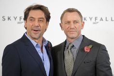 Javier Bardem and Daniel Craig at event of Skyfall
