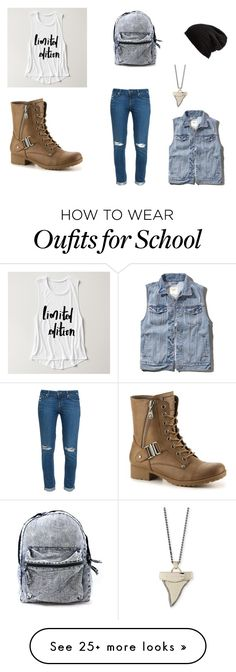 """""""casual school outfit"""" by imnotperfectsobackoff on Polyvore featuring Paige Denim, Free People, Givenchy and Abercrombie & Fitch"""