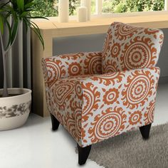 AdecoTrading Printing Arm Chair & Reviews | Wayfair
