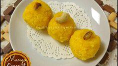 Microwave Mango Coconut Ladoos | Quick Ladoo Recipe