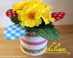 2 x 2 Bunt, Planter Pots, Pretty, Design, Flowers, Plant Pots