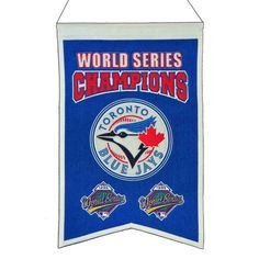 MLB Baseball Toronto Blue Jays 14x22 Heavy Wool with Embroidery Sport Team Logo World Series Champions Banner #2029 -- Awesome products selected by Anna Churchill