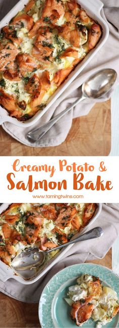 A delicious, warming, comfort food creamy salmon bake. Carb fuelled cosiness in . A delicious, warming, comfort food creamy salmon bake. Baked Salmon Recipes, Seafood Recipes, Cooking Recipes, Healthy Recipes, Autumn Recipes Baking, Simple Recipes, Picture Food, Scandinavian Food, Fish Dishes