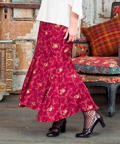 Look what I found on #zulily! Scarlet Josephina Floral Flared Skirt #zulilyfinds