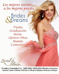 Luce espectacular para tus eventos especiales con los hermosos vestidos de Brides and Dreams, te esperamos!!