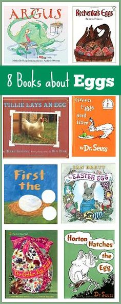 8 Egg-Themed Picture Books for Kids- perfect for Easter and Spring! ~ BuggyandBuddy.com