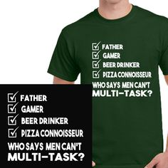 Funny man's t-shirt from Clevaclogs