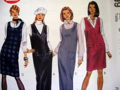 McCALLS SEWING PATTERN - 8399 - MISSES PLUS 16,18,20 -JUMPER IN 2 LENGTHS