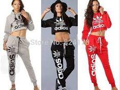 tracksuits sportswear women sweatshirts hoodies sweat jogging suit for women  2015 fashion female velours survetement Adidas 4aab246bcb