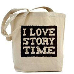 """I LOVE STORYTIME': Made of heavy weight cotton canvas #Book_Bag"