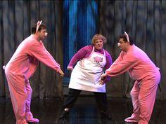 Our pink fleece as pig costumes on Saturday Night Live #SNL  Pink fleece perfect for Piggy costume, bunny costume or #rabbitcostume from http://www.bigfeetpjs.com/pajama-sleepwear/205.html  #costume #melissamccarthy #halloweencostumes #bigfeetpjs