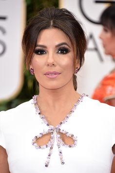 Eva Longoria: http://www.stylemepretty.com/2016/01/11/best-beauty-golden-globes-2016/