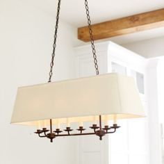 kitchen - http://www.ballarddesigns.com/remington-8-light-rectangle-chandelier/lighting/category/chandeliers-pendants/316911
