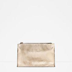ZARA - TRF - METALLIC CLUTCH BAG