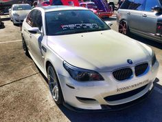 White Wrapped BMW M5 for SEMA Show by iConic Wraps
