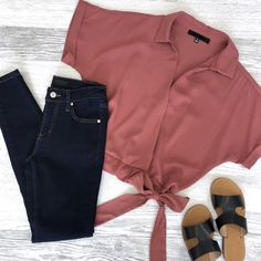 This cute fun Top is the perfect weekend outfit no matter what your plans are. Joelle has a faux side tie to… Girls Fashion Clothes, Teen Fashion Outfits, Mode Outfits, Outfits For Teens, Casual Summer Outfits, Classy Outfits, Pretty Outfits, Stylish Outfits, Mode Kpop