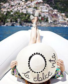"historyinhighheels: ""La dolce vita indeed! #hatsbyolivia #amalficoast #positano #imneverleaving #summer #hinhhabroad (at Amalfi Coast - Positano) """