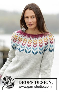 Ravelry: Joyride pattern by DROPS design Knitting Paterns, Lace Knitting, Knitting Projects, Knit Crochet, Drops Design, Hand Knitted Sweaters, Cool Sweaters, Handgestrickte Pullover, Hand Embroidery Videos