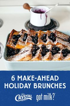Eggnog French Toast, French Toast Muffins, French Toast Bake, Winter Desserts, Holiday Desserts, Holiday Recipes, Breakfast Dishes, Breakfast Ideas, Breakfast Recipes
