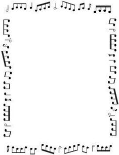 Borders and Frames: Music Themed Black and White Borders For Paper, Borders And Frames, Page Borders Free, Music Border, Music Symbols, Music Worksheets, Music Crafts, Notes Template, Templates
