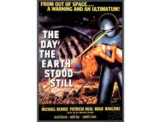 The Day The Earth Stood Still 1951 Science Fiction Film Vintage Poster Print Low Eu Post Free US Post by VintagePosterPrints on Etsy