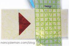 Folded Flying Geese from Quick Column Quilts by Nancy Zieman/Sewing With Nancy