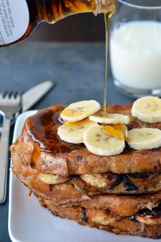 Banana and Nutella Stuffed French Toast - by Just a Taste  Dear Lord!