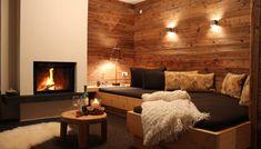 Bildergebnis für kamin hütte Modern, Home Decor, Chalets, Old Wood, Other, Luxury, Architecture, Living Room, Trendy Tree