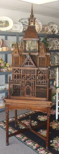 6' Tall Cathedral Tudor Bird Cage-- just because I want a birdcage like this in my arboretum. #parrotcagecover