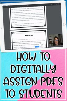Samson's Shoppe: How to Digitally Assign PDF Worksheets to Your Students Teacher Tools, Teacher Hacks, Star Citizen, Canvas Learning, Teaching Technology, Technology Lessons, Middle School Science, Google Classroom, Teaching Tips
