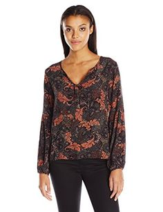 Sanctuary Clothing Womens Printed Scarlett Parisian Boho L * You can find out more details at the link of the image.