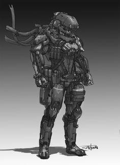 AI Soldier, CAPTOON (Lee InSu) on ArtStation at https://www.artstation.com/artwork/6xyar