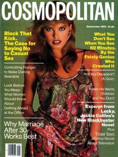 Cosmopolitan magazine, SEPTEMBER 1985 Model: Renee Simonsen Photographer: Francesco Scavullo