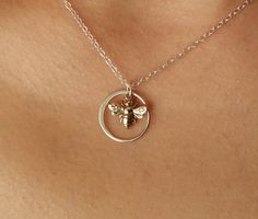 FOREVER SWEET Necklace, Pendant Necklace, silver, circle necklace, bridesmaid gift, pendant, bridal, necklace, yoga, spiritual