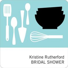 Wedding Favor Stickers -- All Things Kitchen in Blue