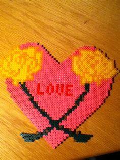 sandylandya@outlook.es  Love heart flowers perler beads by Jamie R. -  Perler® | Gallery