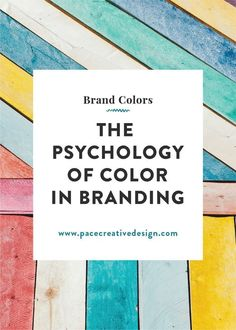 The Psychology of Color in Branding — Pace Creative Design Studio - business marketing design Marketing Colors, E-mail Marketing, Digital Marketing Strategy, Content Marketing, Marketing Ideas, Internet Marketing, Personal Branding, Marca Personal, Personal Logo