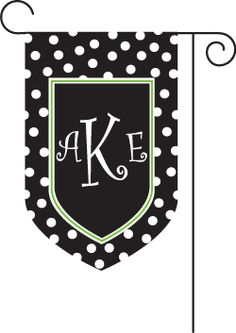 Personalized Garden Flag in Black Chevron DIY Projects