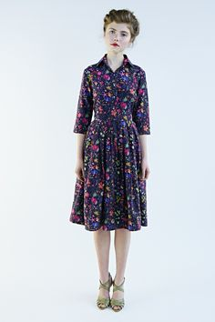 """Mrs Pomeranz """"Darjeeling flower"""" dress is made of beautiful Liberty of London fabric called """"Floral Eve"""". This design is taken from a large botanic..."""