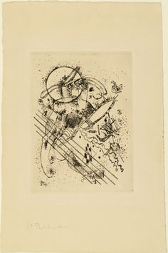 Vasily Kandinsky (French, born Russia. 1866–1944) Etching with Five Diagonals (Radierung mit fünf Diagonalen) 1922, Drypoint