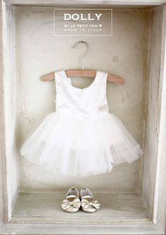 DOLLY by Le Petit Tom ® BABY BALLERINA'S 2CB 'Bow' platino