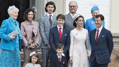 Gert's Royals (@Gertsroyals) on Twitter:  Confirmation of Prince Felix, April 1, 2017-l-r Christa Manley (mother of Countess Alexandra), Countess Alexandra, Prince Nikolai, Prince Felix, Prince Henrik, Princess Marie, Queen Margrethe, Prince Joachim and in front, Princess Athena and Prince Henrik