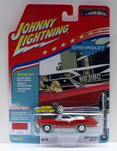 1:64  JOHNNY LIGHTNING MUSCLE CARS USA 2017 SERIES 1A - 1968 CHEVY IMPALA CONVER #JohnnyLightning #Chevrolet
