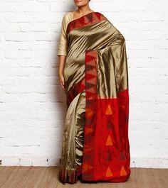 #Golden & #Maroon Zari Woven #Silk Handloom #Saree #Navratri #Sale #readytoship Was $360| Is $168