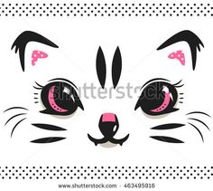 Cute baby tiger face on white isolated background illustration vector.