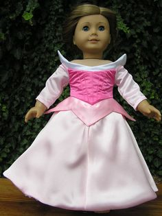 Original Design Princess Sleeping Beauty or Aurora Dress for American Girl or 18 inch Doll