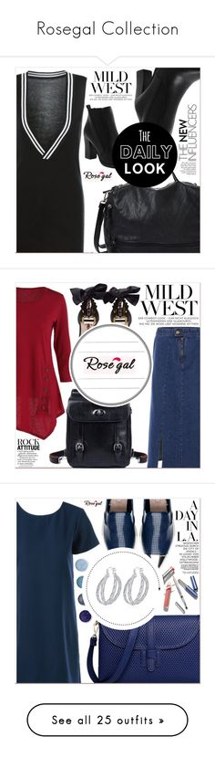 """""""Rosegal Collection"""" by lucky-1990 ❤ liked on Polyvore featuring Miu Miu, Terre Mère, Hedi Slimane, Sergio Rossi, Zara, Lands' End, Loeffler Randall, IRO, Lipstick Queen and Rick Owens"""
