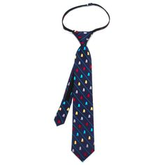Star Wars R2D2 Striped Boys' Zipper Silk Tie. 100% silk tie with zipper closure for boys, best suited for ages 3-6.