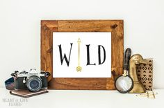 Instant wild arrow art print Printable tribal by HeartOfLifeDesign